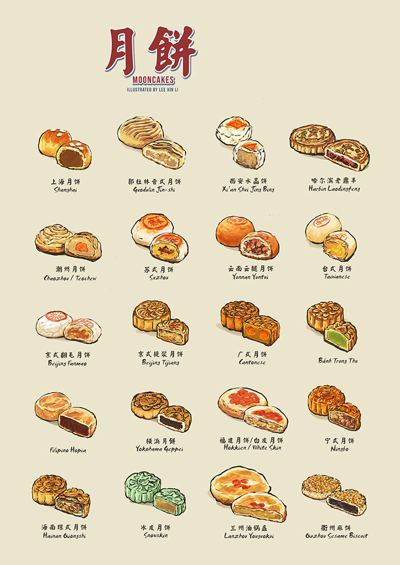 Over The Moon Your Illustrated Guide To Mooncakes