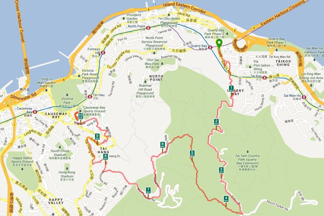 Quarry Bay to Tin Hau Hike