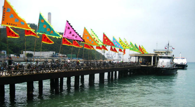 Yung Shue Wan Ferry Pier during the Dragon Boat Festival. Photo courtesy of Suzannah VanRooy