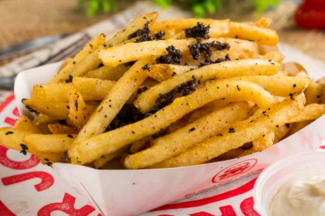 burger joys truffle fries hong kong