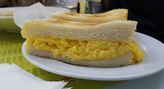 vegetarian food local hong kong restaurant egg sandwich