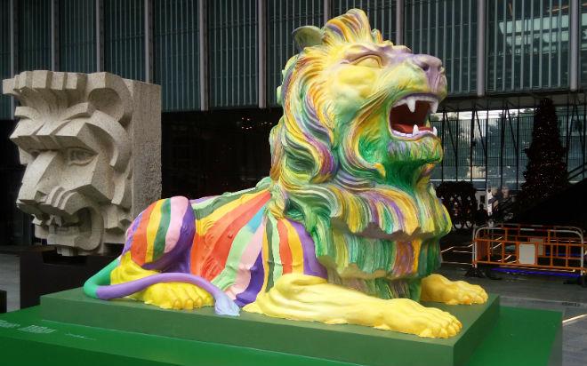 HSBC lions LGBTQ Hong Kong