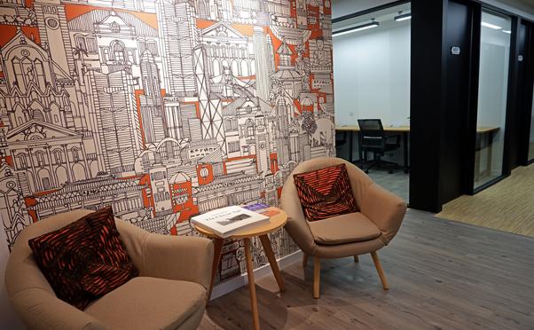 hk works entrance wallpaper