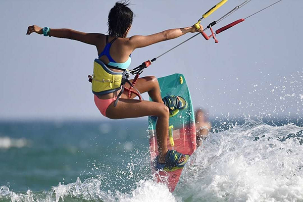 Water sports in Hong Kong kite surfing