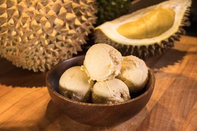Homemade Durian Ice Cream