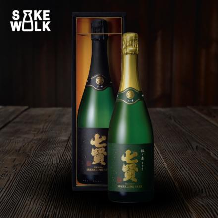 Hoshinokagayaki Sparkling Sake and Morinokanade Sparkling Sake from Shichiken. A unique sparkling sake made in tradtional champagne method with delicious fruity aroma