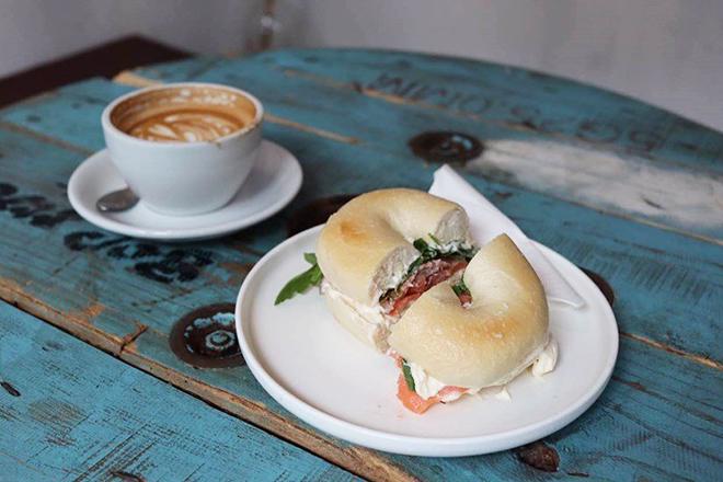 Best bagel sandwiches Hong Kong The Brew Job Coffee