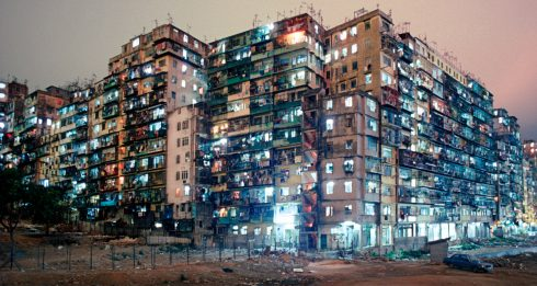 Greg Girard 'Kowloon Walled City Night View from SW Corner' Hong Kong 1987_Courtesy of Blue Lotus Gallery