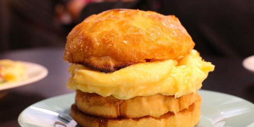 Scrambled egg sandwich Hong Kong