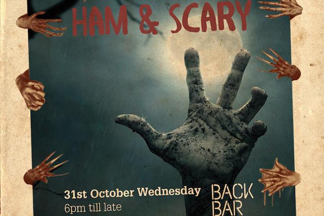 Ham & Scary halloween back bar