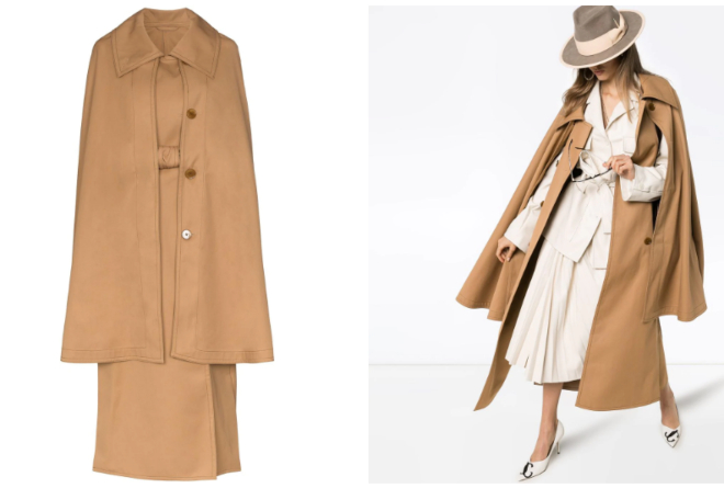 Lemaire cape belted trench coat
