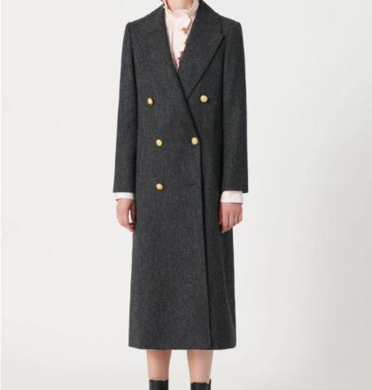 Masscob John Herringbone Wool Coat