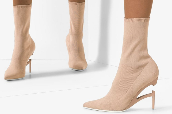 Unravel project broken heel 100mm knit boots