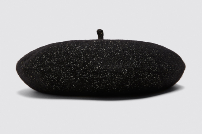 Metallic thread beret