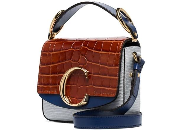 Chloé C Ring panelled shoulder bag