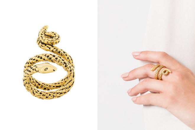 aurelie bidermann wrap around snake ring