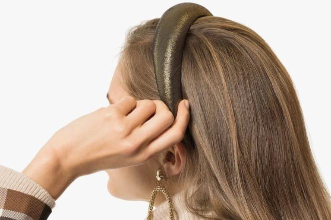 Jennifer Behr Thada Lamé Headband