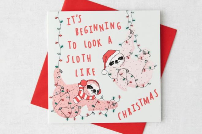 urban outfitters christmas cards sloth hong kong