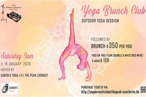 yoga brunch club the peak look out 2020
