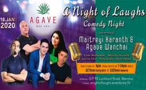 a night of laughs agave wanchai